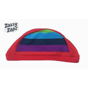 Zazzy Zaps ザジーザップス レインボー スイムキャップ レッド Sサイズ Mサイズ 3点までネコポス発送OK!|egaoshop