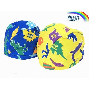 Zazzy Zaps ザジーザップス 恐竜柄 スイムキャップ 水泳帽 男の子 イエロー ブルー Sサイズ Mサイズ 20%OFF!|egaoshop