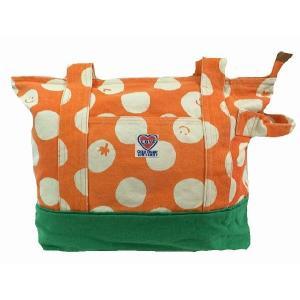 マザーバック CHILD CHAMP チャイルドチャンプ ドット柄マザーバッグ(帆布) オレンジ(OR) ピンク(P) レッド(R) |egaoshop