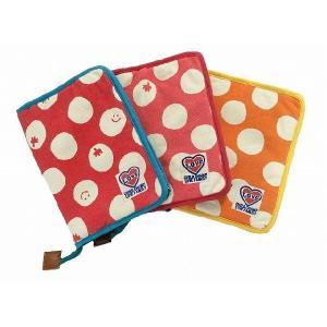 母子手帳ケース CHILD CHAMP チャイルドチャンプ ドット柄母子手帳ケース オレンジ(OR) ピンク(P) レッド(R) Mサイズ |egaoshop