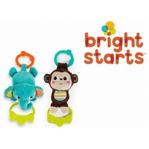 ベビーカートイ Bright Starts ブライトスターツ タグチューンズ ぞう さる ぬいぐるみ ベビーカー プレゼント 出産祝い 男の子|egaoshop