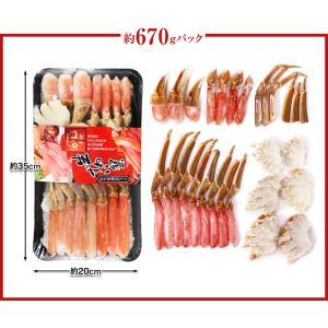 かに カニ 蟹 ズワイ蟹 ずわい蟹 ずわいがに ズワイガニ ポーション   生本ずわい「かにしゃぶ」むき身満足セット 2kg超【送料無料】 egaotakumi 06