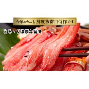 かに カニ 蟹 ズワイガニ ポーション | 3L〜2L生ずわい蟹「かにしゃぶ」脚肉むき身 1kg超|egaotakumi|03