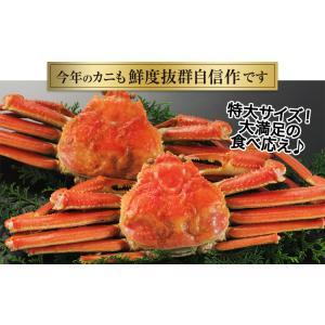 かに カニ 蟹 ズワイガニ ボイル  北海道紋別浜茹で ずわいがに姿 2杯(約1.7kg) egaotakumi 03