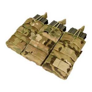 在庫販売 CONDOR コンドル タクティカルギア MA27 トリプル M4/M16 オープンマグポーチ マルチカモ|egears