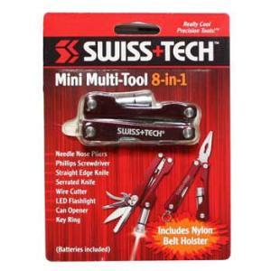 在庫販売 SWISS TECH スイステック ミニマルチツール 8in1|egears