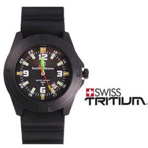 在庫販売 Smith&Wesson スミス&ウェッソン ソルジャーウォッチ 腕時計 トリチウム発光 ラバーストラップ SWW-12T-R|egears
