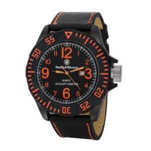 在庫販売 Smith&Wesson スミス&ウェッソン EGO 時計 ウォッチ 腕時計 SWW-LW6058 レザーストラップ|egears