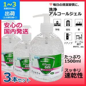 洗浄アルコールジェル (3本セット) 1本500ml スッキリ速乾性 かんたん押すだけポンプタイプ 保湿成分グリセリン配合 国内発送|egmart