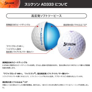 エヴァンゲリオン ゴルフボール 6個入り SRIXON AD333(キャラクター グッズ アニメ ゴルフ) egolf 06