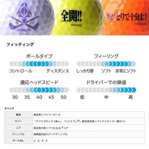 エヴァンゲリオン ゴルフボール 6個入り SRIXON AD333(キャラクター グッズ アニメ ゴルフ) egolf 07