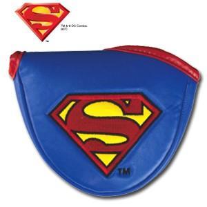 スーパーマン パターカバー(マレット用) SUPERMAN(ゴルフ キャラクター ヘッドカバー おもしろ)|egolf