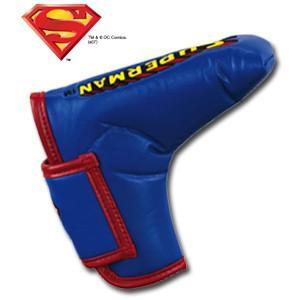 スーパーマン パターカバー(ブレード用) SUPERMAN(ゴルフ キャラクター ヘッドカバー おもしろ)(ゴルフ用品 グッズ ギフト プレゼント)|egolf