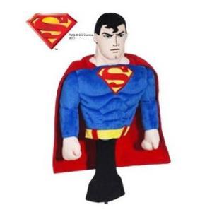 スーパーマン ヘッドカバー(ドライバー用) SUPERMAN(ゴルフ キャラクター ヘッドカバー おもしろ)(ゴルフ用品 グッズ ギフト プレゼント)|egolf