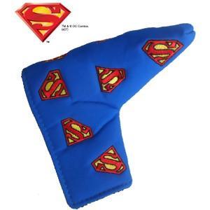 スーパーマン マルチロゴ パターカバー(ブレード用) SUPERMAN(ゴルフ キャラクター ヘッドカバー おもしろ)|egolf