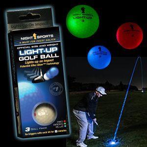 光るゴルフボール ライトアップゴルフボール 3色セット(go...