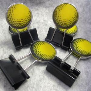 ゴルフ ダブルクリップ ゴルフボール黄(メール便対応可) (ゴルフ 雑貨)(ゴルフコンペ景品 ゴルフコンペ 景品 賞品 コンペ賞品)|egolf