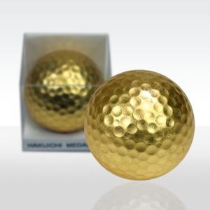 金箔ゴルフボール メダリスト(金)1個(海外 お土産 golf balls 箔一 1位 優勝)|egolf