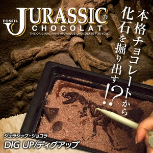 恐竜の化石を発掘するチョコレート ジュラシックショコラ ディグアップ