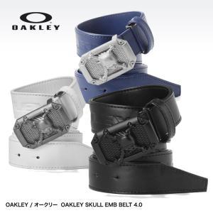 オークリー スカル ベルト OAKLEY SKULL EMB BELT 4.0 96197JP(ゴルフ ベルト メンズ 男性用)|egolf