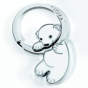 TROIKA/トロイカ  キーリング(キーホルダー) POLAR BABY ポーラーベイビー KR8-03/WH(メール便対応可) (デザイン雑貨)|egolf