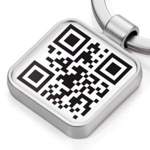 TROIKA/トロイカ  アップキーリング QRコード APP KEYRING CODE #KYR12-p19(メール便対応可) (デザイン雑貨)|egolf