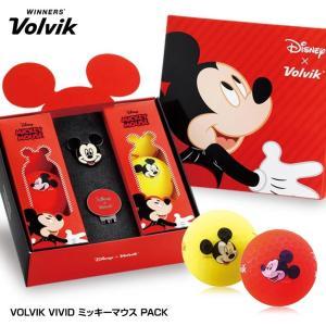ボルビック VOLVIK Mickey Vivid ミッキーマウス ゴルフボールギフト(ゴルフボール6個・クリップマーカー)|egolf