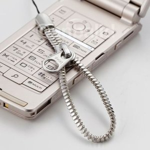 YKKジッパーストラップ 携帯ストラップ(大) シルバーカラー AM-302/BK AM-302/WH(メール便対応可) egolf