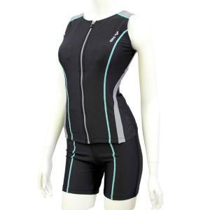 フロントファスナーのセパレートタイプ水着なので着脱がとても簡単。 サイドのスナップボタンで、トップス...