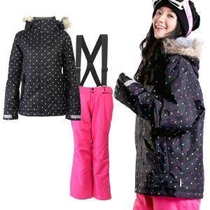 スキーウェア レディース 上下セット ジャケット パンツ スキー ウェア...
