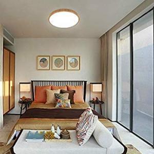 W-LITE LEDシーリングライト 35W 木目調 昼光色 調光対応 リモコン付き 6?8畳 薄型 和風 LEDライト 照明 eh-style