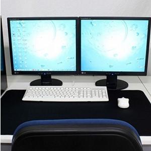 大きい マウスパッド 大型マウスパッド マウスを広く操作できる ビッグサイズ (600×300, ブ...