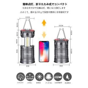 LEDランタン 高輝度 キャンプランタン usb充電式 電池式 2in1給電方法 フラッシュライト 折り畳み式 携帯型 テントライト 懐中電|eh-style