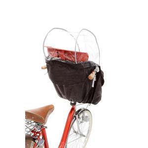 OGK技研 まえ幼児座席用ソフト風防レインカバー RCH-003 ブラック 専用袋付 eh-style