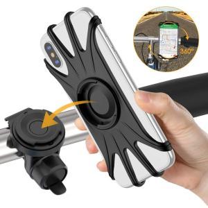 VUP 自転車ホルダー スマホホルダー 取り外し可能 4-6.5インチiPhone/Android全機種に適用 360度回転 振れ止め メー|eh-style