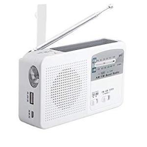 災害に備える ポータブルラジオ FM/AM/対応 500MaH大容量バッテリー防災ラジオ ワイドFM対応ラジオ スマートフォンに充電可能 手|eh-style