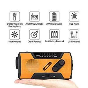 UIM ラジオライト 手回し充電 防災ラジオ led USB 電池充電 AM/FM ラジオ手巻き 2000mAh パワーバンク 地震 震災|eh-style