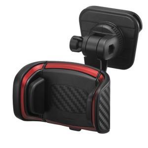 カーメイト 車載ホルダー スマホホルダー クイック エアコン取付 カーボン調 メタリックレッド SA18 eh-style