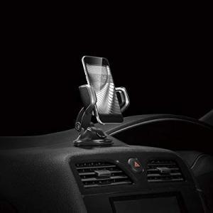 カーメイト 車載ホルダー スマホホルダー クイック吸盤 レザー調 シルバー SA10 eh-style