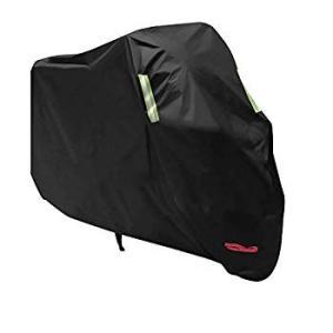 バイクカバー バイク車体カバー 厚手 高品質 風飛び防止 防水 防塵 耐熱 鍵穴盗難防止 UVカット 収納袋付き(XXXL,改良型)|eh-style