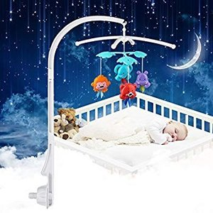 ベビー ベッドメリー アーム ベッドアームブラケット付き モビール アタッチメント 赤ちゃん メリー ベッド ベビーカー ベビーベッド おも eh-style