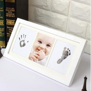 Tumao ベビーフレーム 赤ちゃん 手形 足形 フォトフレーム 写真立て キット ベビー記念品 出産祝い インクタッチなし 無毒で安全 新 eh-style