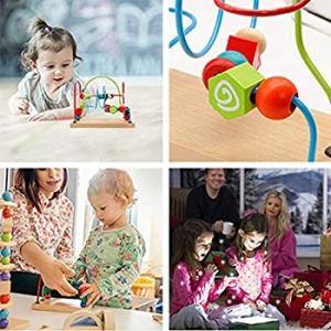 ビーズコースター ルーピング おもちゃ 木製おもちゃ 子ども 知育玩具 方形スタンド eh-style