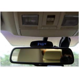 TOWOTO 4in1 車載電子時計 時刻 日付 温度 電圧 お洒落 デジタル コンパクト 多機能Mini車内装飾|eh-style