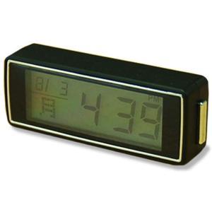 カシムラ コンパクトクロック 時計 ワンプッシュ5秒点灯 NAK-183|eh-style