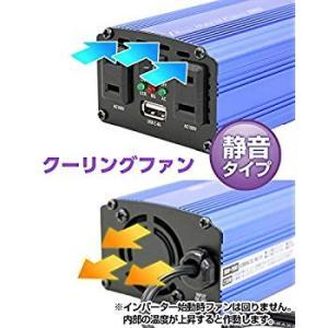 メルテック インバーター 2way(USB&コンセント) DC12V コンセント2口120W USB1口2.4A 静音タイプ Meltec|eh-style