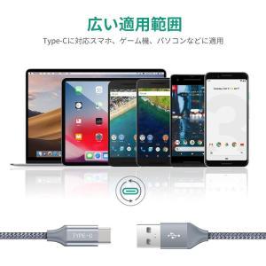 Snowkids3本USB Type Cケーブル 2m USB-A to USB-C充電ケーブル 高...