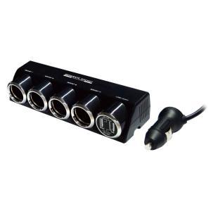 カシムラ セパレートソケット 4連 USB×2ポ-ト 4.8A NKX-187|eh-style