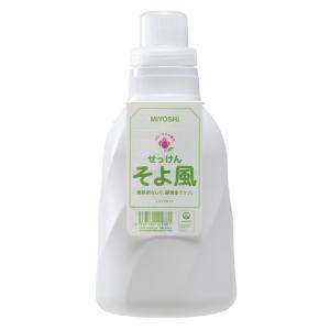 ミヨシ石鹸 そよ風 液体せっけん フローラルの香り 本体 1100ML 衣類用液体石鹸|ehac