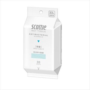 日本製紙クレシア スコッティ ウエットティシュー 除菌 アルコールタイプ 33枚 ウェットティッシュ|ehac